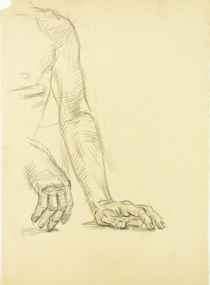 """""""Two Studies of a Resting Hand"""", ca. 1940-1949"""