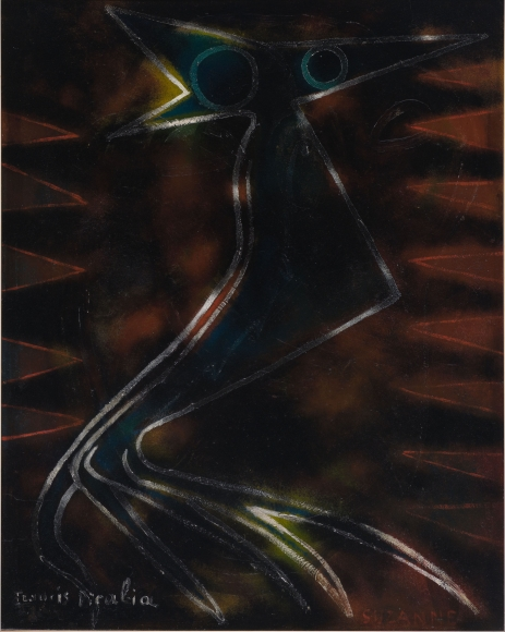 """""""Suzanne"""", 1946 Oil on wood"""