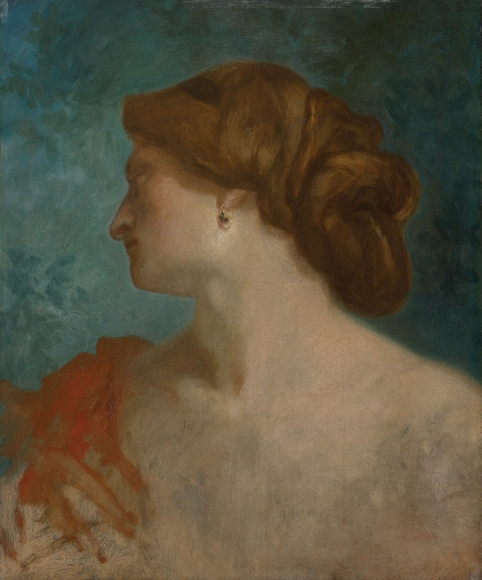 """PIERRE PUVIS DE CHAVANNES, """"Portrait de femme de Profil (Portrait of a Woman in Profile)"""", ca. 1857-1860"""