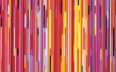 Rise, 2001 Acrylic on canvas / Acryl auf Leinwand, 86.3 x 139.7 cm