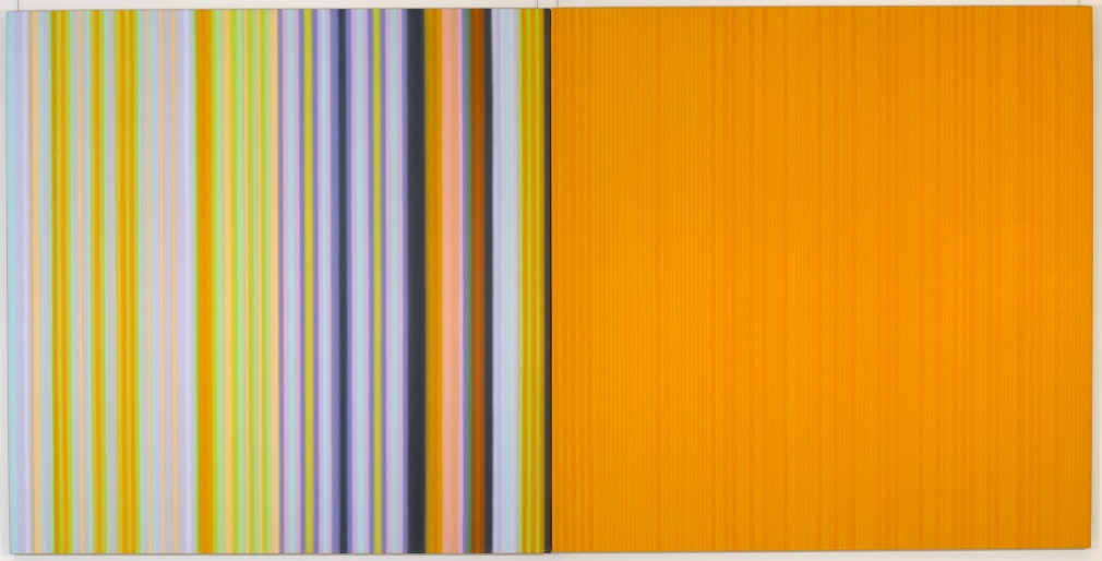Surprise,Surprise, 2003, dyptich, acrylic on canvas, 64 x 128 inches, Albright-Knox Art Gallery