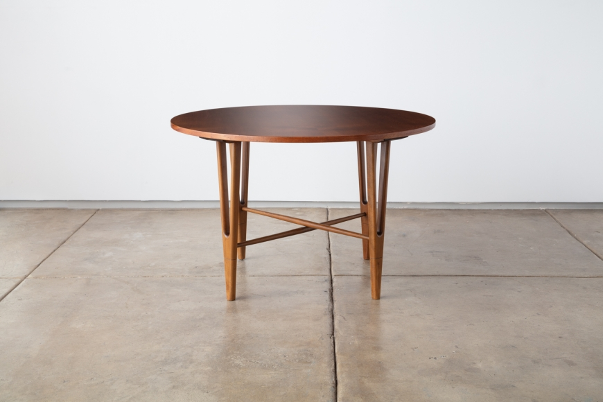 KURT ØSTERVIG, Round Side Table, Jason Møbler, Denmark, ca. 1955