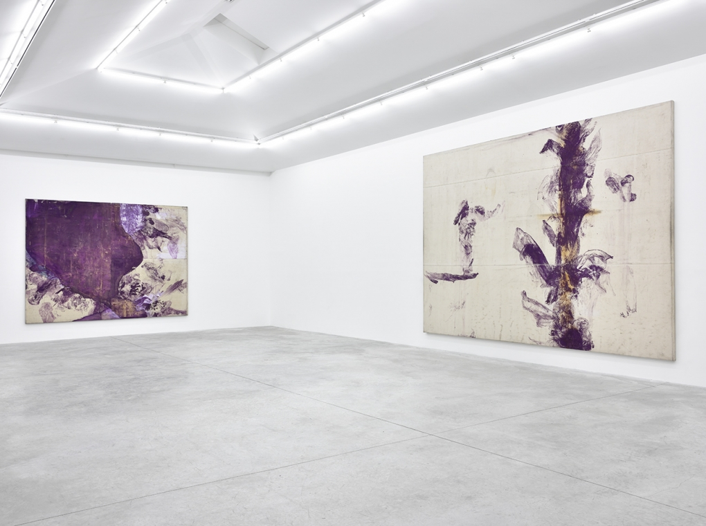 Purple Action Paintings 1990