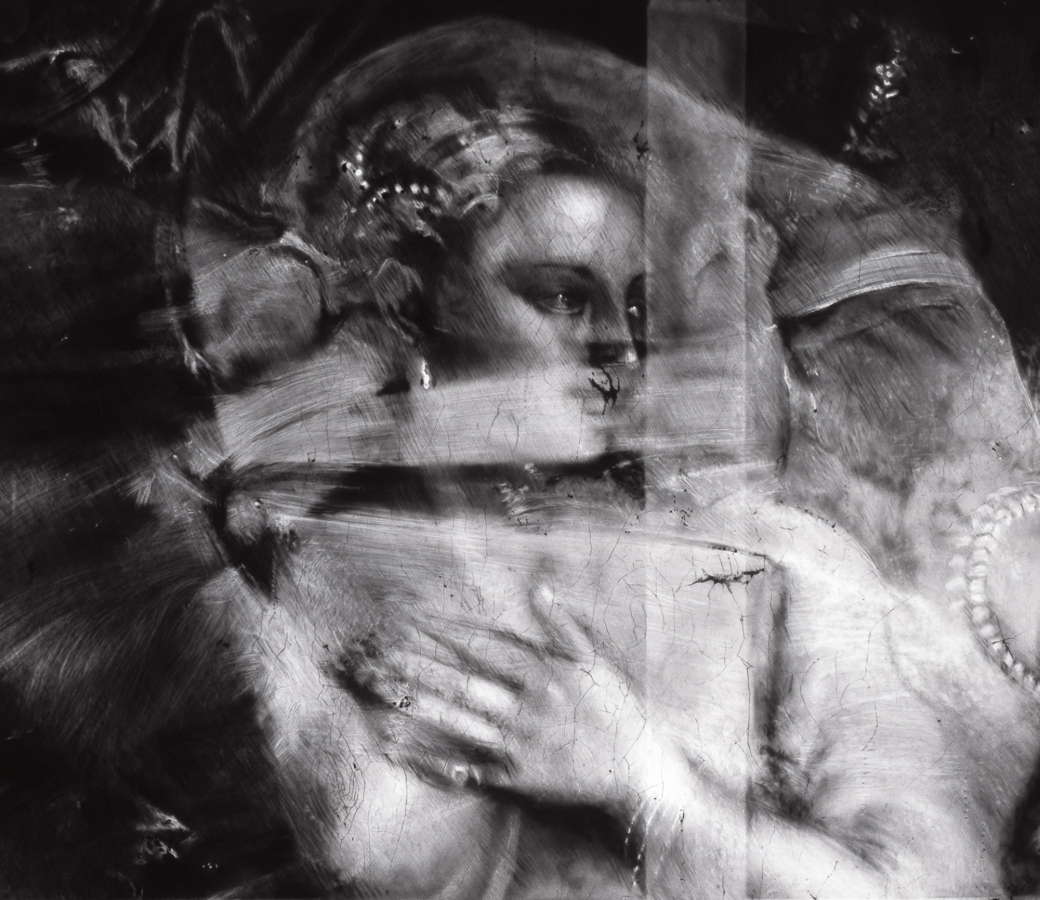 Detail view of Robert Longo's Untitled (X-Ray of Venus with a Mirror, 1555, After Titian)