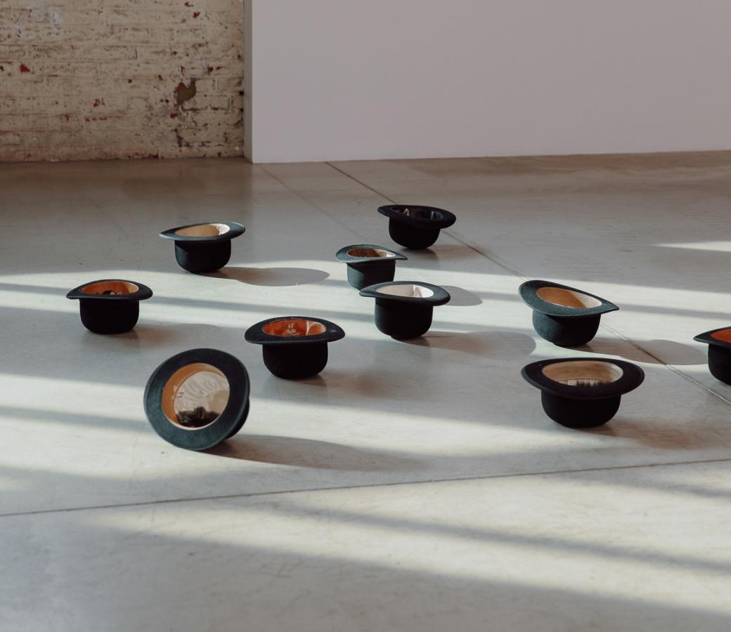 Latifa Echakhch Mer d'encre installation view