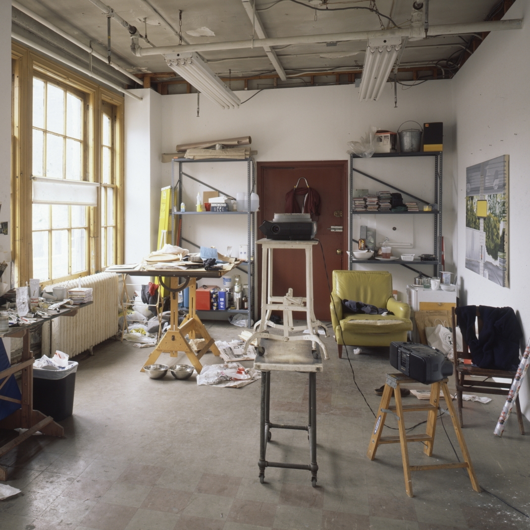 Photographs of his studio