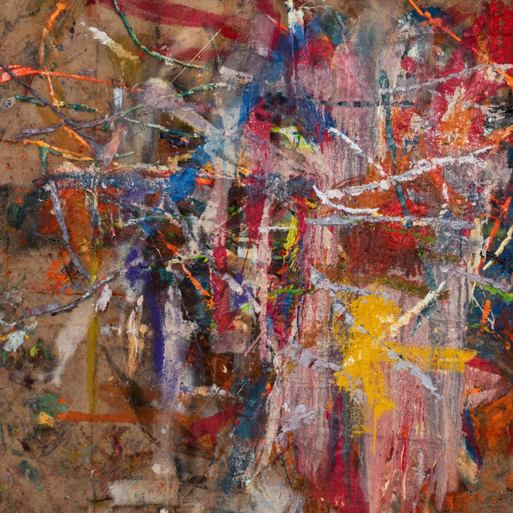 An abstract painting by Spencer Lewis