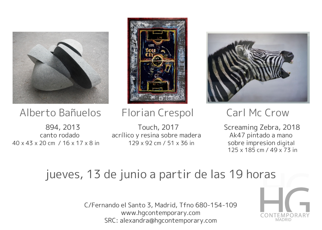 HG CONTEMPORARY MADRID presents: McCrow, Alberto Bañuelos & Florian Crespol