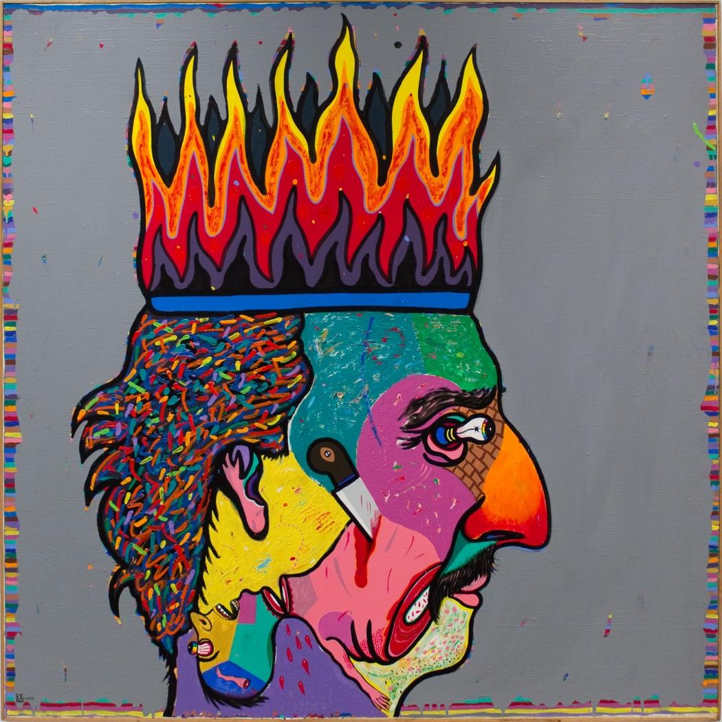 Luis Cruz Azaceta, Shit My Head is Burning..., 1981