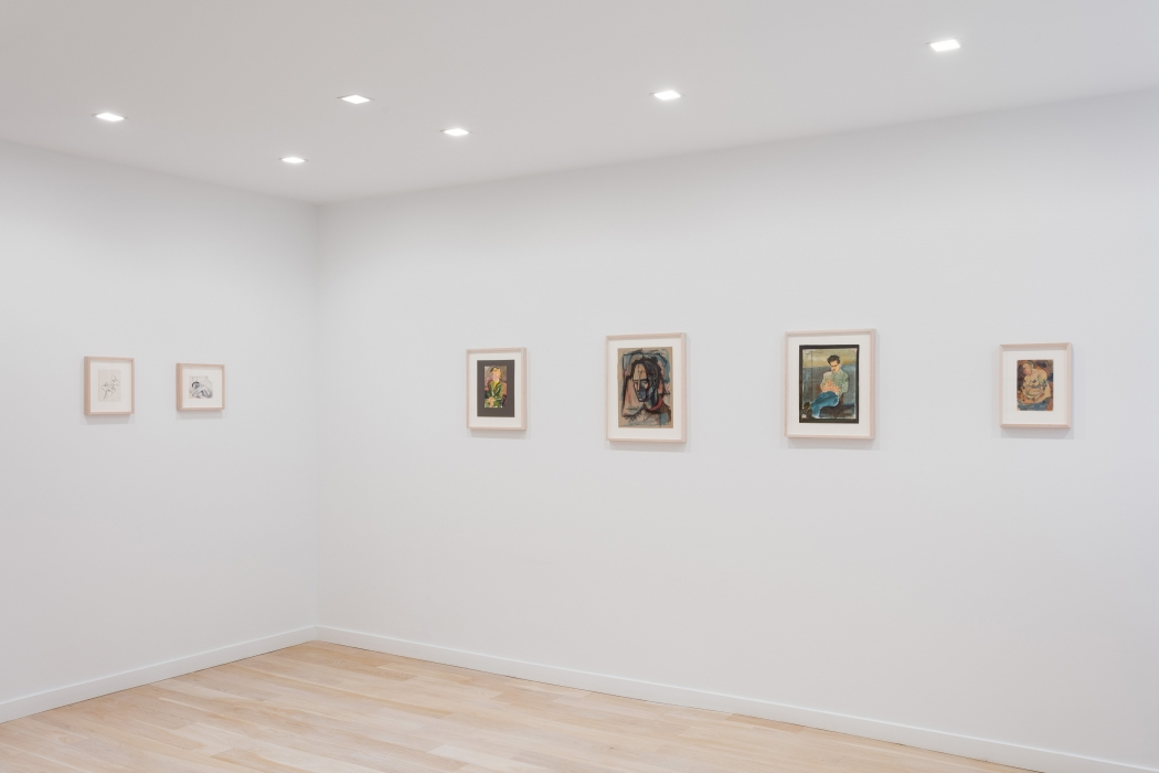 Installation view of drawings by Richard Diebenkorn