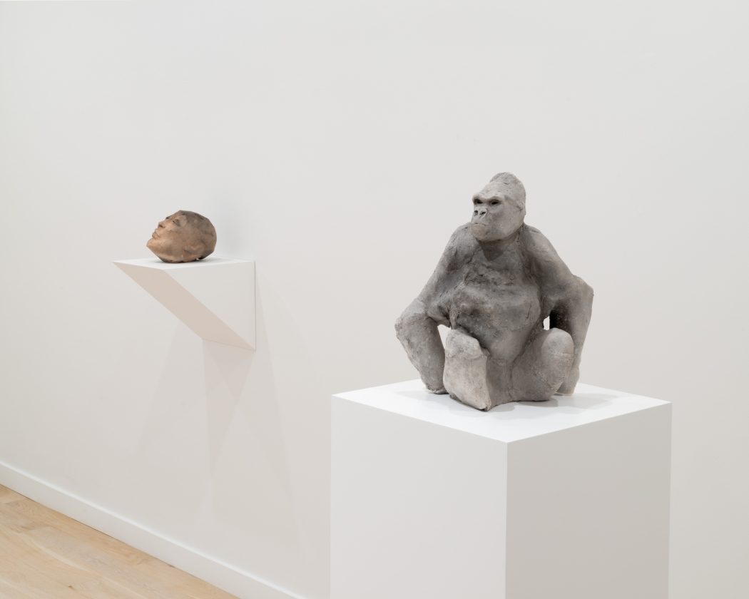 installation view of multiple sculptures