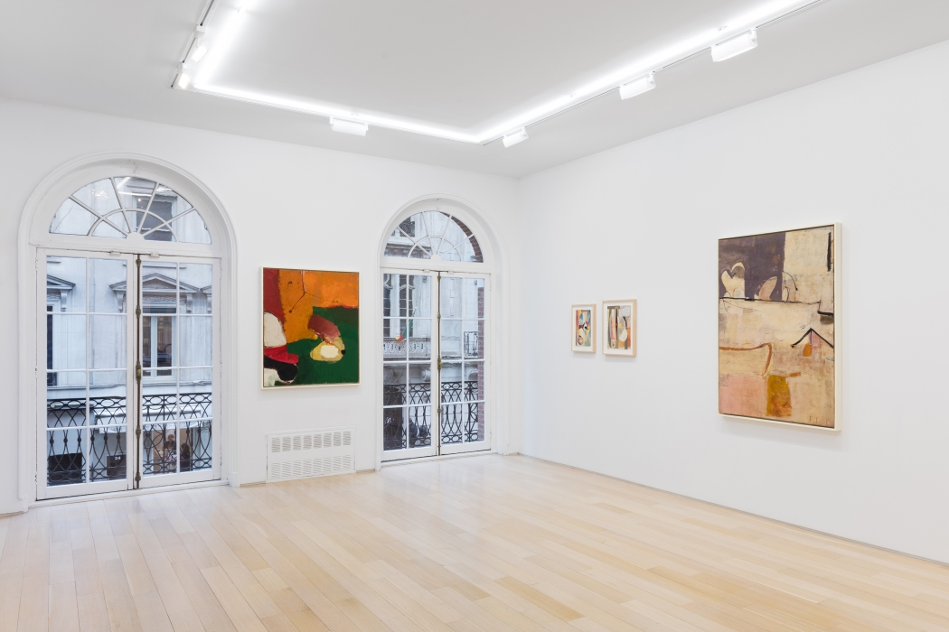 installation view of Richard diebenkorn paintings and drawings
