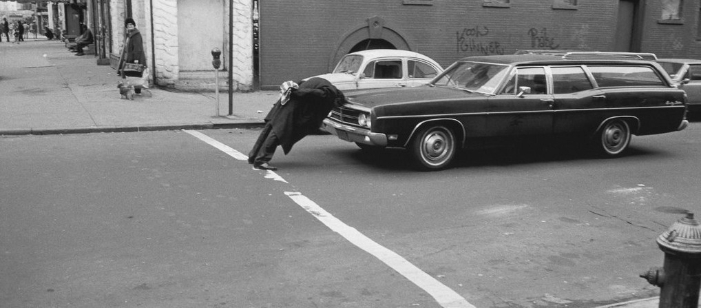 Will McBride Strassenszene in New York 1976, 1976 Gelatin silver print and graphite 49.85 x 37.47 cm / 19 5/8 x 14 3/4 in