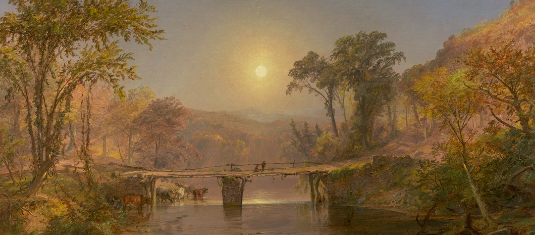 Jasper Francis Cropsey (1823-1900), Indian Summer on the Delaware River, 1862