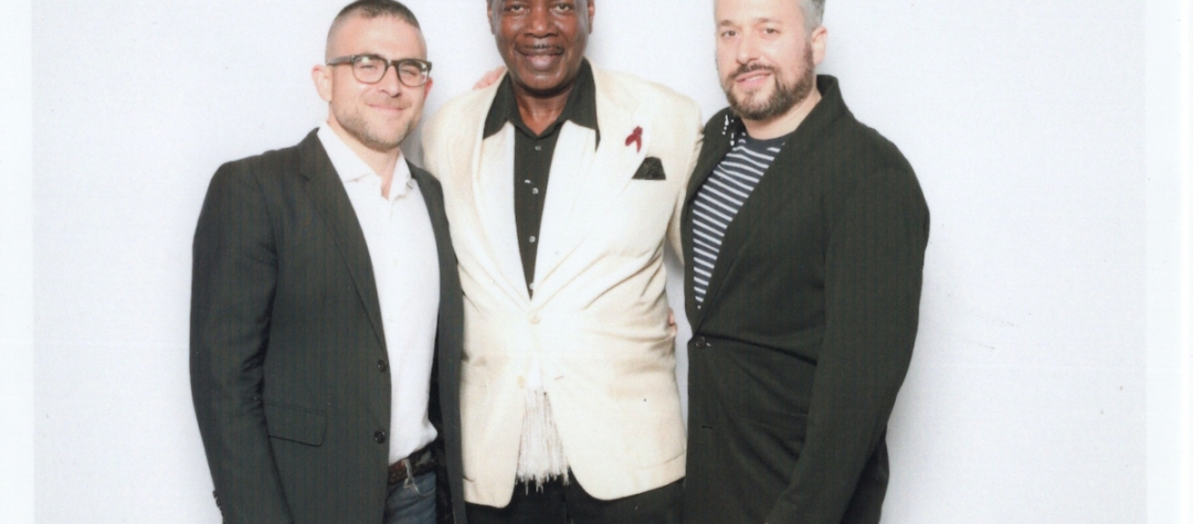 Jacob Robichaux, Frederick Weston, Sam Gordon at Visual AIDS VAVA VOOM Benefit Auction