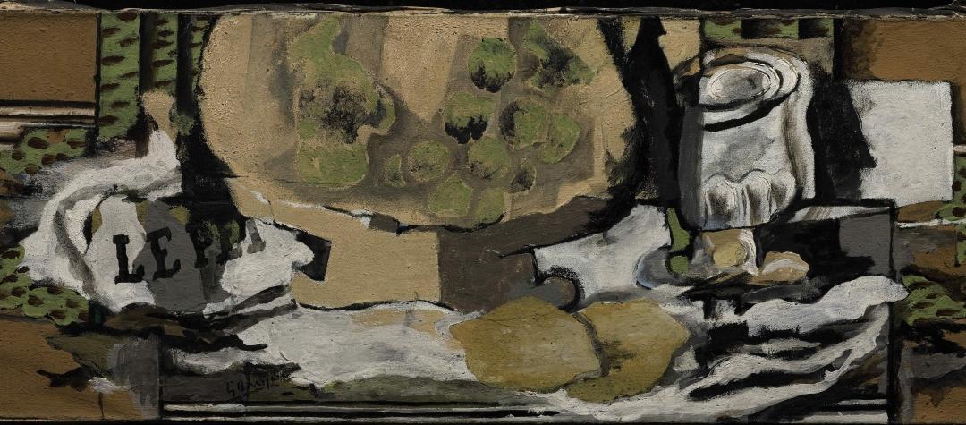 Braque, Verre et Compotier, 1922