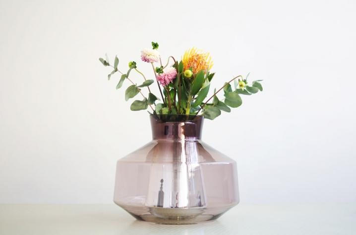 Bubble Vase / 2014 / mouth blown colored artistic glass and mouth blown silvered artistic glass