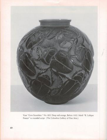 Morrison McClinton, Katherine. Lalique for Collectors. New York: Scribner's, 1975. p. 60.
