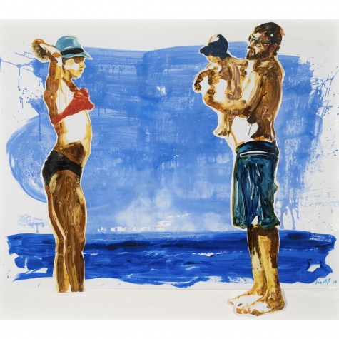 Eric Fischl Untitled, 2019. Acrylic and oil on photo paper 71 x 82 in. (180.3 x 208.3 cm.)