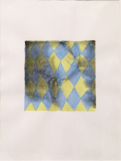 Peter Schuyff Untitled, circa 1986 watercolor and pencil on paper 16 x 11 inches