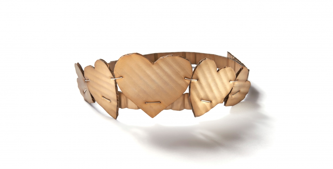Cardboard Hearts Tiara (necklace)