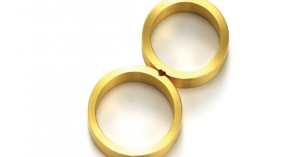Heart wedding bands