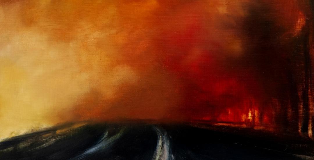 detail of painting by karen marston