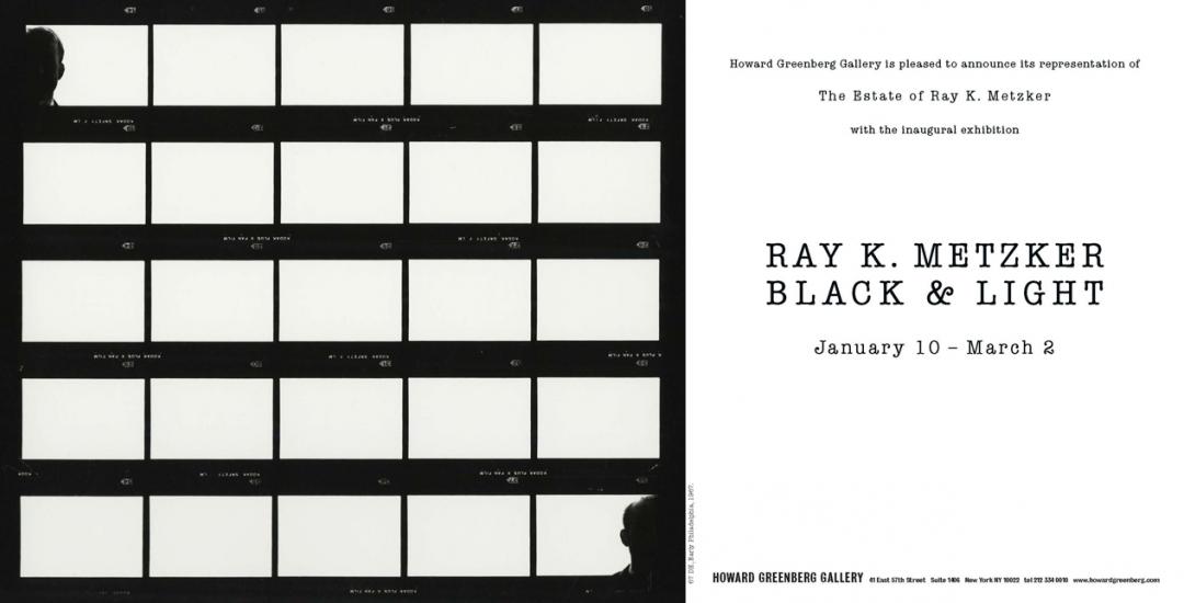 Ray K. Metzker, Black & Light, January 10 - March 2