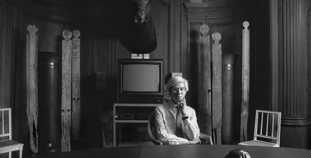 Two Days in the Life of Andy Warhol, an exhibition of 15 rare black and white photographs by Fine Art photographer, Robert Levin.