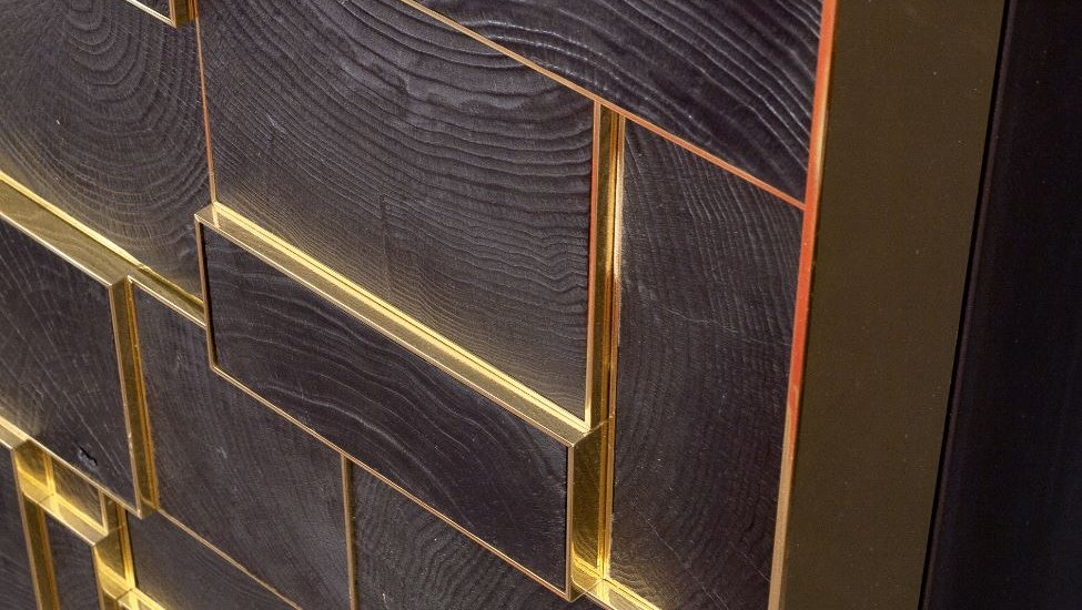 Detail of a cabinet by Franck Chartrain.