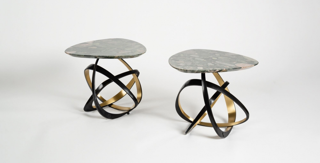 Hervé van der Straeten, Gueridon Volubile No. 538, Contemporary Side Table, France, 2017