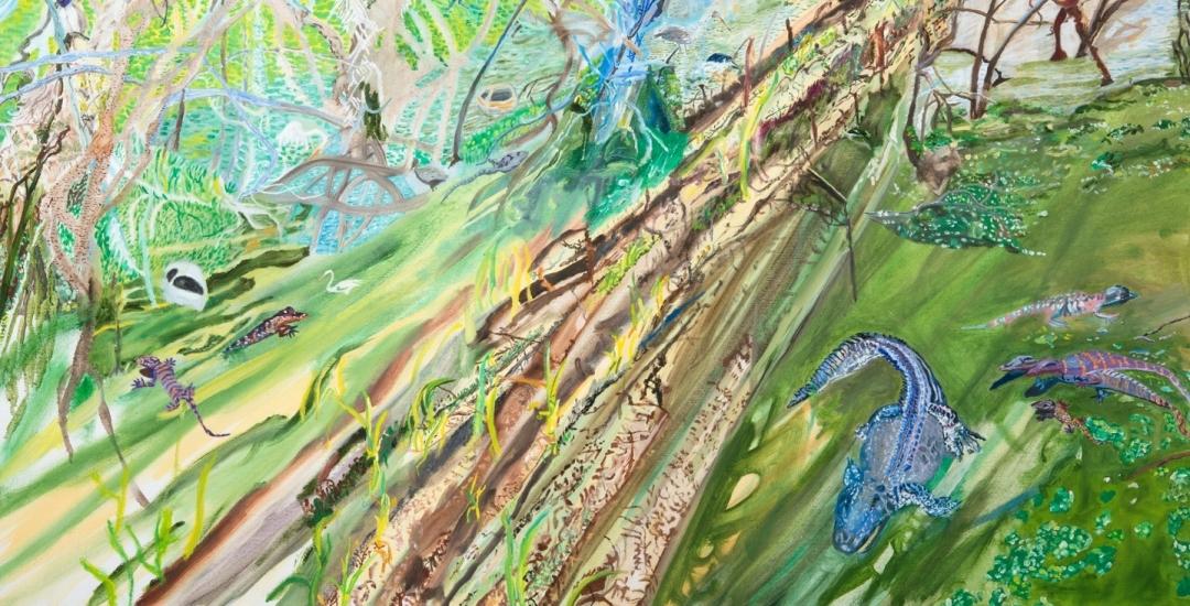 Olive Ayhens: Lettuce Lake
