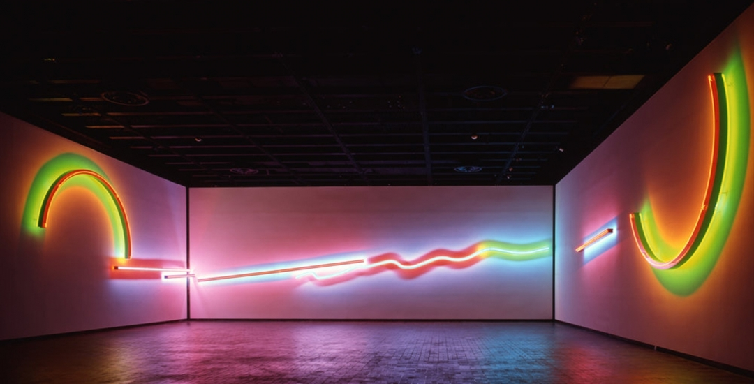 """Stephen Antonakos: Proscenium"" at the Neuberger Museum of Art"