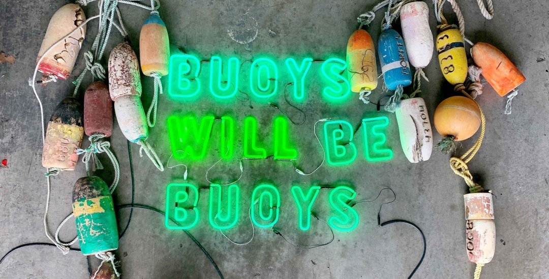 Hannah Cutts Buoys will be Buoys exhibition at Lone Goat Gallery