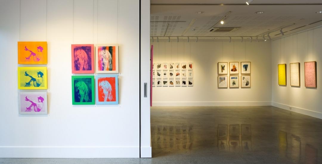 Michael Stiegler On Bowery exhibition installation image. Lone Goat Gallery