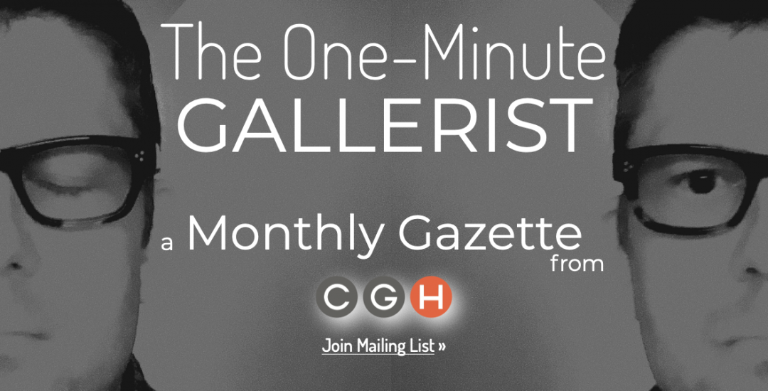 Newsletter signup for Caldwell Gallery in Hudson.