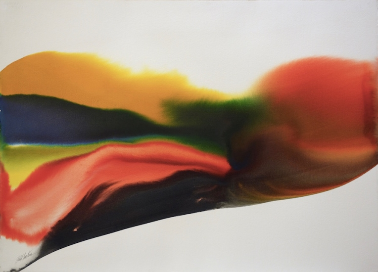 Paul Jenkins Watercolor Phenomena Jade Pass 1975