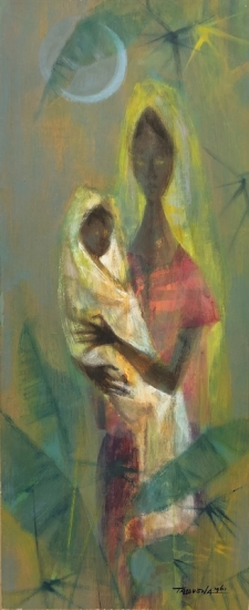 Romeo Tabuena Philippines Mother and Child Painting 1961