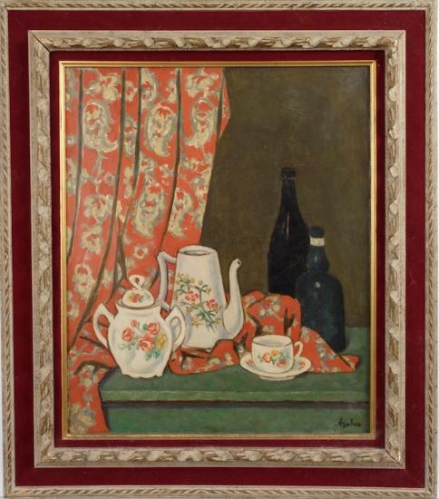 Georges Ascher Polish Tabletop Still Life circa 1935 Oil on Canvas