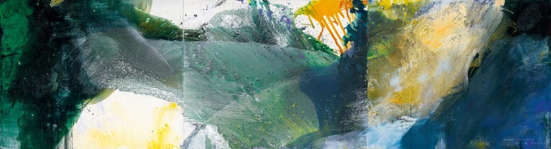 """Wang Yan Cheng, """"Untitled (Triptych),"""" 2019"""