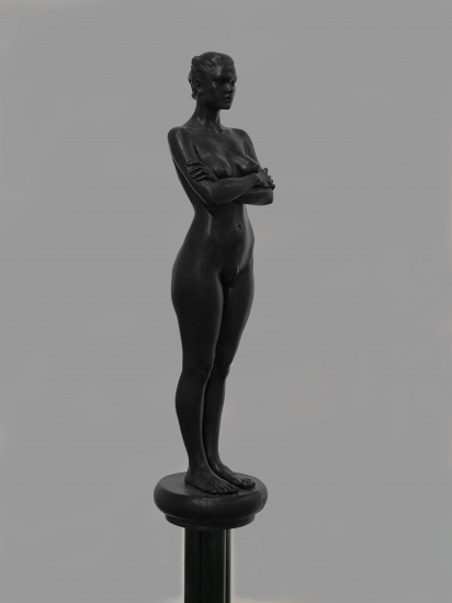 "Robert Graham | Sasha | 1993 | cast bronze on base | 59"" x 12"" x 12"""