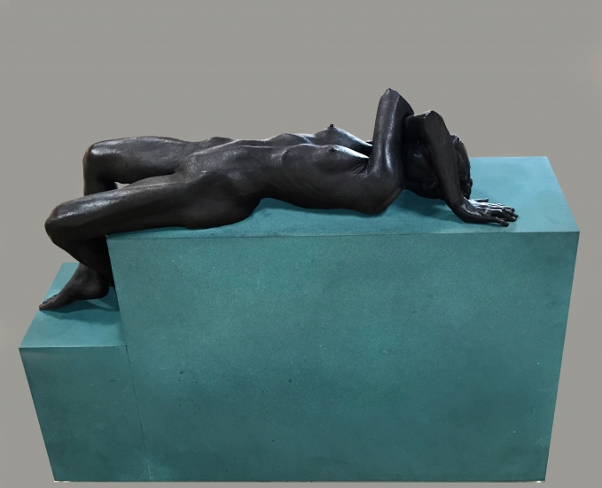 "Robert Graham | Klara II | 2004 | cast bronze | 32"" x 41"" x 12"""