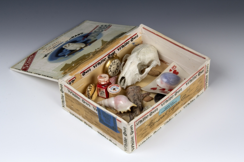 "Richard Shaw | King Edward Junk Box | 2011 | porcelain with overglaze decals | 2.5"" x 4.75"" x 9"""