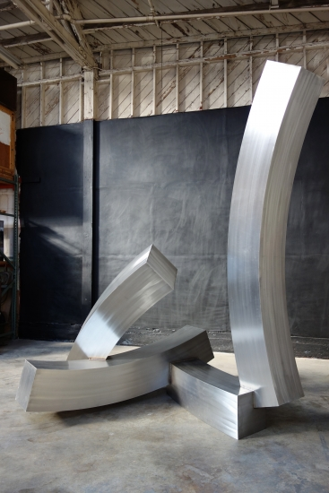 "Brian Wall | Pike | 2014 | stainless steel, 16"" guage 