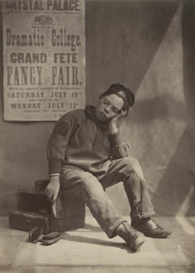 """Oscar Gustave REJLANDER (English, born in Sweden, 1813-1875) """"It Won't Rain, 1862 Albumen print 21.7 x 15.7 cm"""