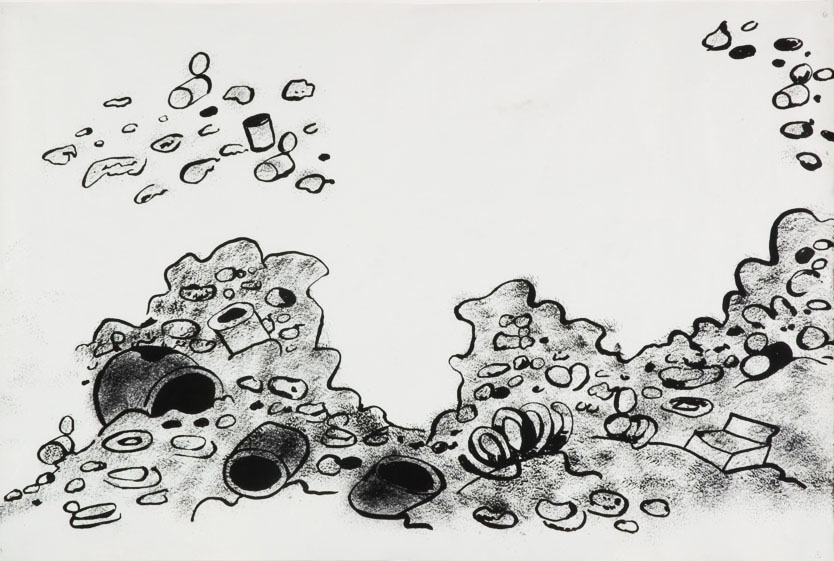 Mike Kelley: Garbage Drawings