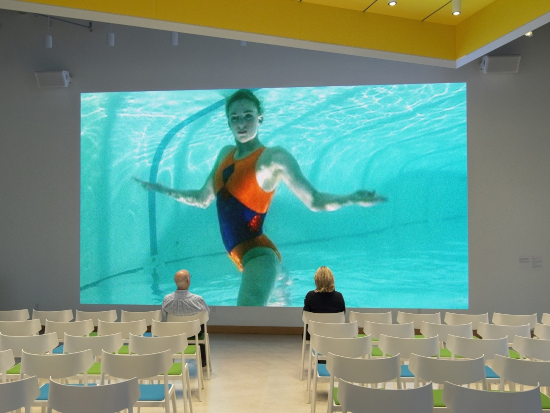 """Installation: """"Solitary Acts,"""" Boca Raton Museum of Art, Boca Raton, FL. Photo by Robin Hill, 2020."""