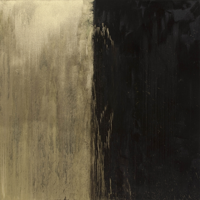 New Light Locks Gallery Pat Steir Black and Gold #2