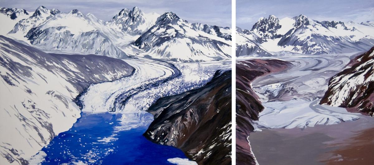 Diane Burko Locks Gallery Politics of Snow Nunatak #1