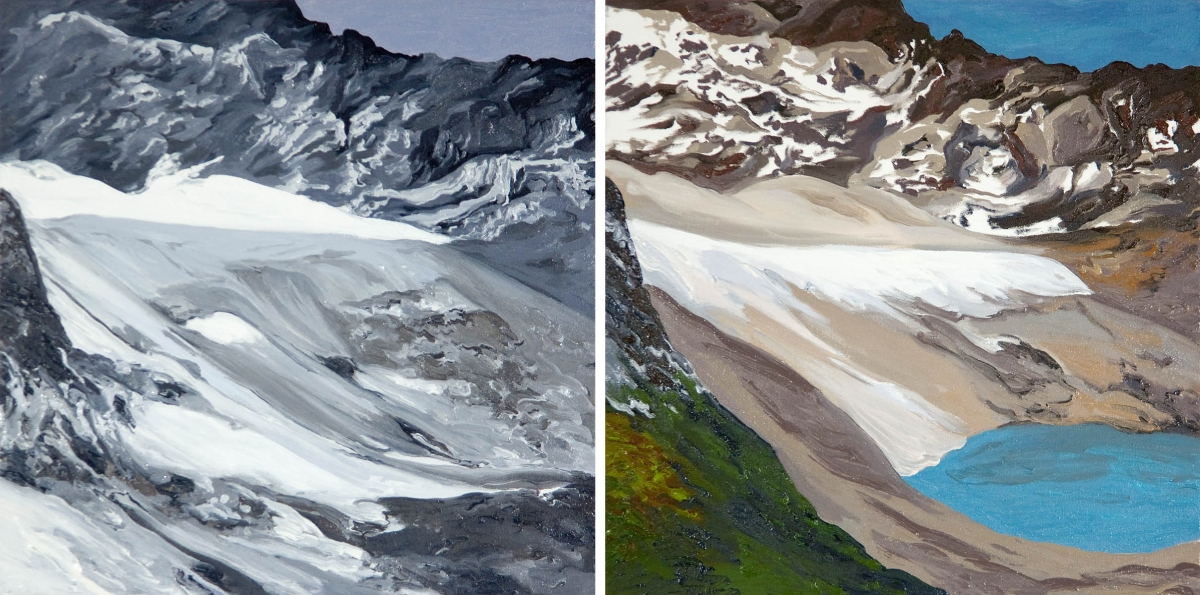 Diane Burko Locks Gallery Arapaho Glacier #1